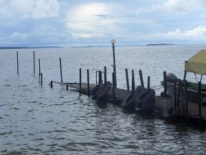 Violent storms caused severe damage to the dock and retaining wall on the Ngamba Island Chimpanzee Sanctuary in Uganda.
